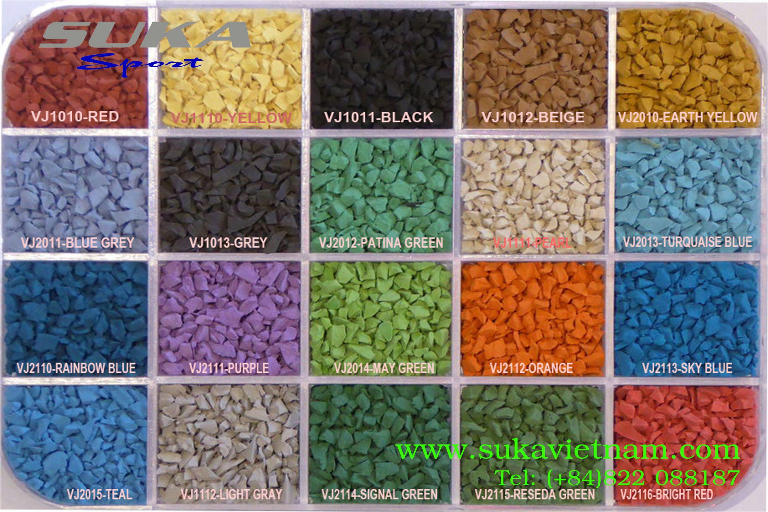 Bảng màu hạt cao su epdm - SuKa EPDM Granules