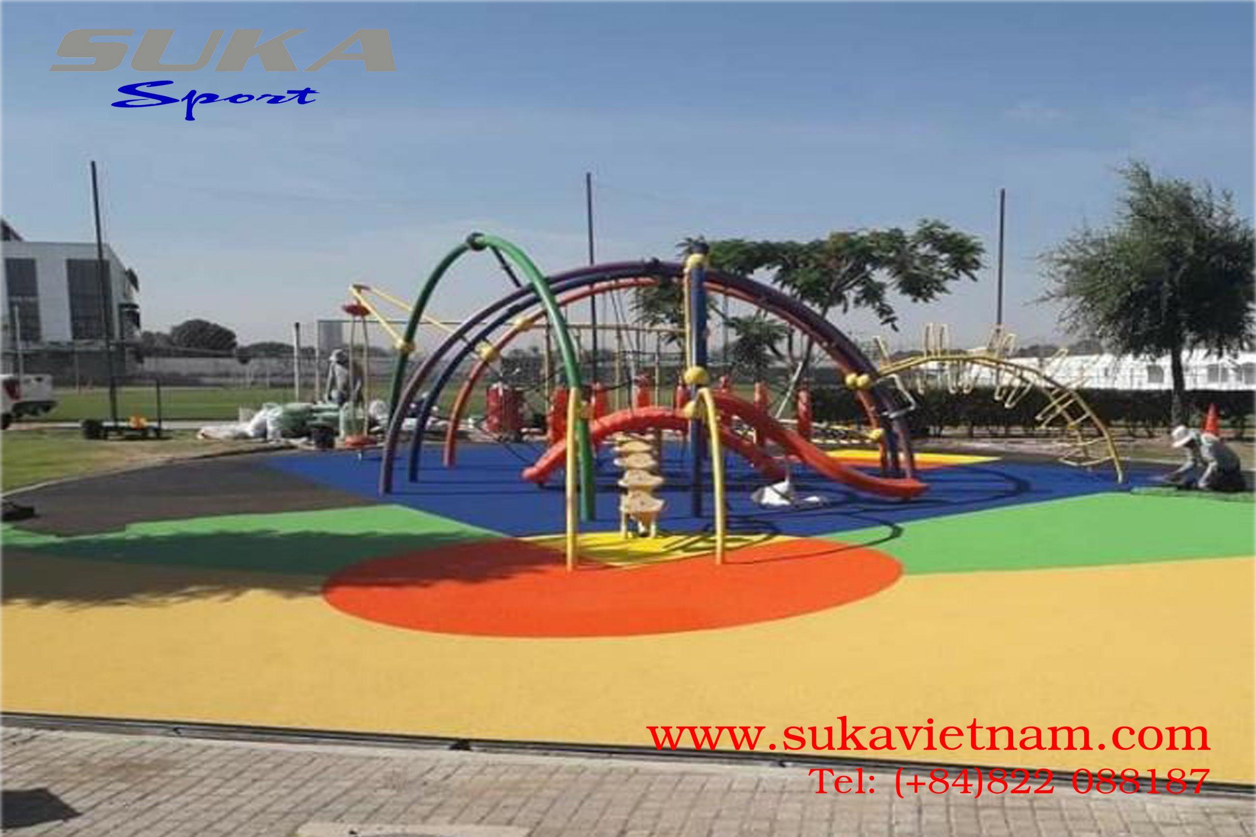 hạt cao su giảm chấn cho khu vui chơi trẻ em