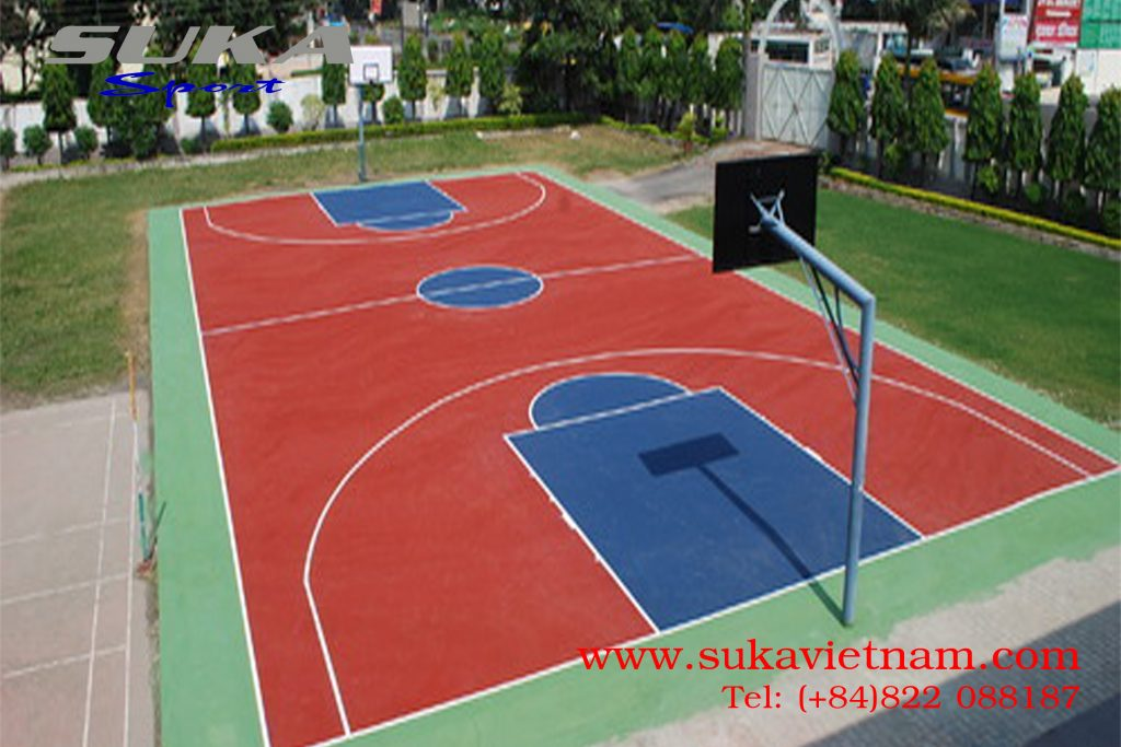 thảm cao su sân bóng rổ