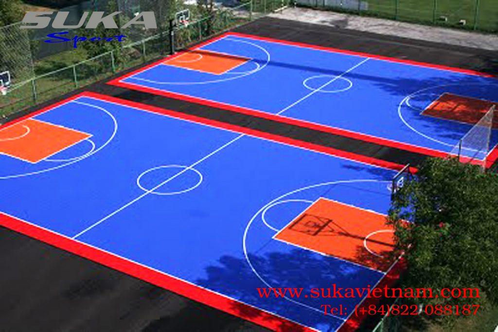 cung cấp sơn sân bóng rổ