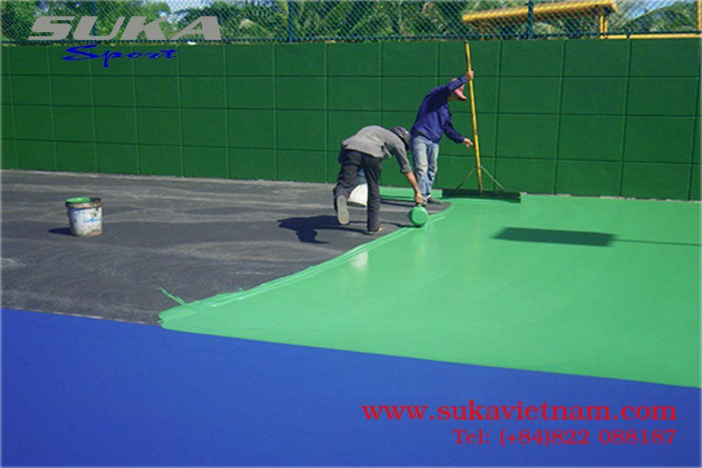 Bán sơn sân tennis