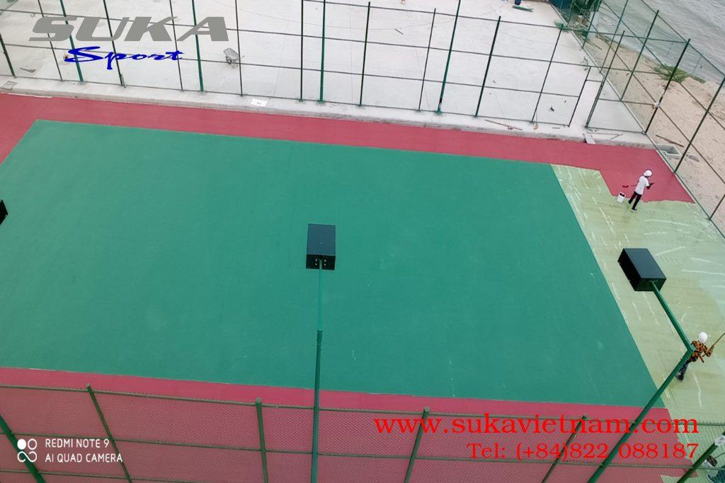 Thảm silicon pu sân tennis
